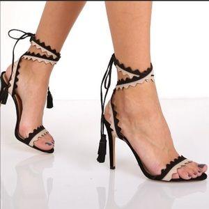 Brand new Schutz black strapped heels